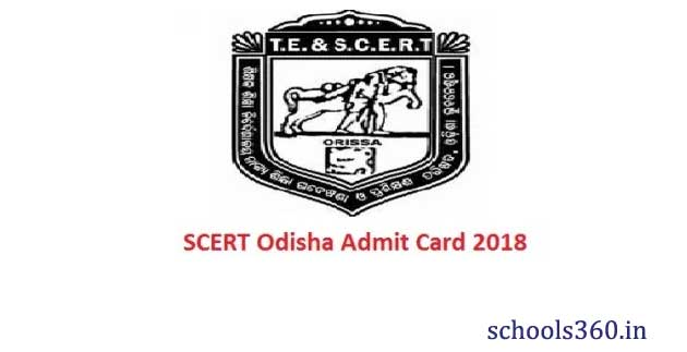 SCERT Odisha B Ed CBT Admit Cards 2019 Download (scert samsodisha