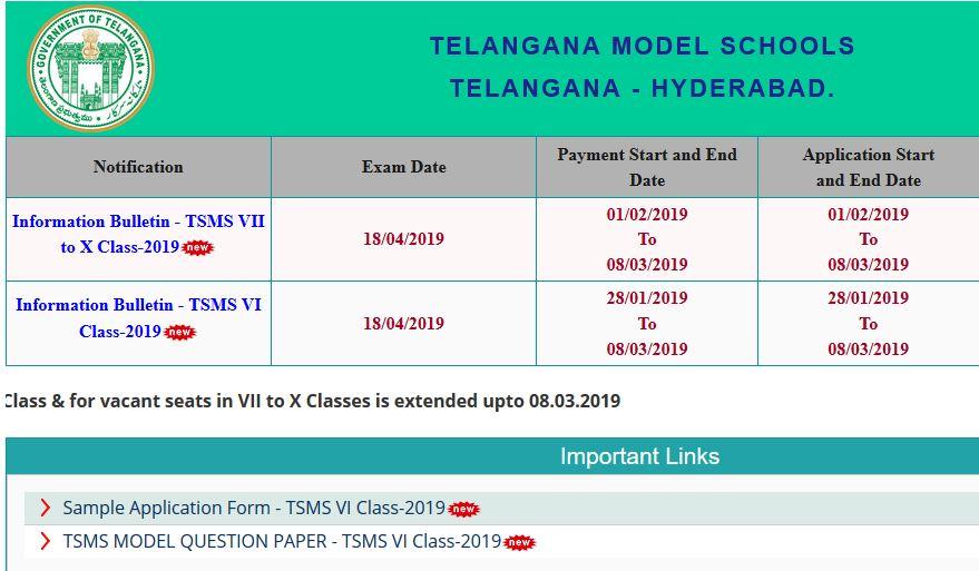 TS Model School Results 2019: TSMS 6th,7th, 8th, 9th,10th