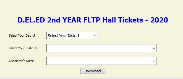 ts d.el.ed hall ticket