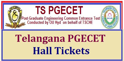 TS PGECET Hall Tickets
