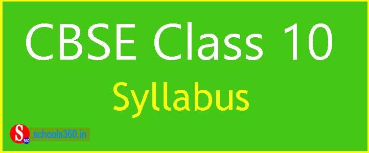 CBSE-Class-10-Syllabus